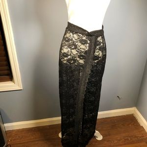 Free People Intimately Lace Slip Maxi Skirt XS